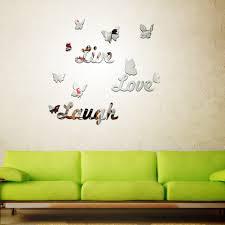 Design Spiegel Wohnzimmer Schmetterling Brief Form Spiegel Wandaufkleber Spezielle Design