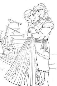 princess anna kristoff frozen coloring pages princess