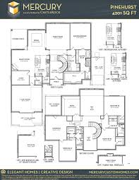 pinehurst mercury luxury home home plan by castlerock communities