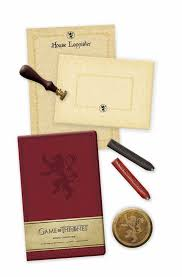 of thrones house lannister deluxe stationery set book by