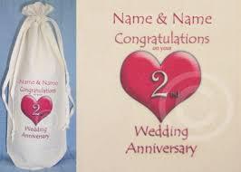 2nd wedding anniversary personalised 2nd wedding anniversary bottle bag cotton ebay