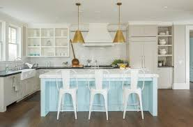 Cottage Kitchen Lighting Light Blue Kitchen Island Cottage Kitchen
