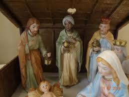 vintage nativity set homco home interiors nativity scene with