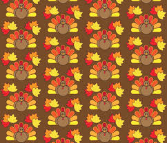 turkey and leaves for thanksgiving fabric juliematthews