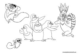 coloring pages king julien home gloria for kids printable free