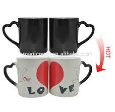 Heart Shaped Mug Heart Shape Handle Ceramic Love Meter Mug Magic Love Mug Buy