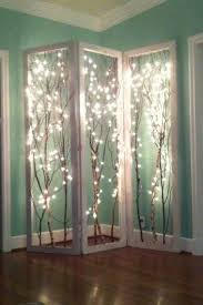 How To Make A Curtain Room Divider - 20 amazingly pretty ways to use string lights