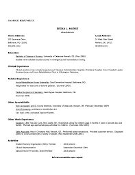 Resume Examples For Registered Nurse by Registered Nurse Resume Sample Free Download