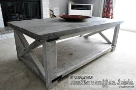 grey washed end tables crafted home rustic x coffee table diy
