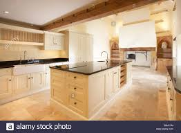 modern cream kitchen modern cream quaker style kitchen in old house with inglenook