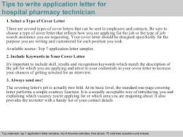Pharmacy Technician Job Duties Resume by Hospital Pharmacy Technician Application Letter