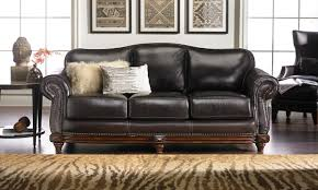 catchy top grain leather sofa of apartement decoration living room