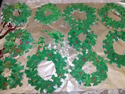 plain graces puzzle christmas wreath craft