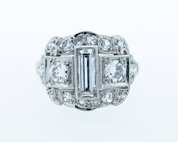 unique antique art deco diamond ring