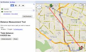 googal maps distance measurement in maps labs