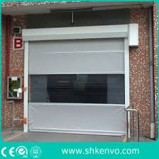 Overhead Rolling Doors Smart Expo Automatic Industrial Pvc Fabric High Speed Fast Rapid
