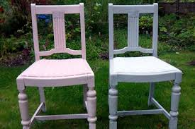 shabby chic grey and pink chairs hand painted annie sloan paint