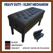 duet adjustable leather artist piano bench with silent heavy duty