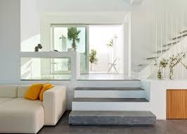 santorini l shaped computer desk santorini house by kapsimalis architects made of white blocks