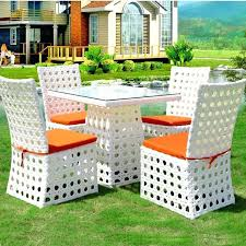 White Patio Dining Set by White Plastic Patio Furniture Sets White Patio Table Chairs Wicker