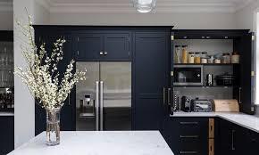 black shaker style kitchen cabinets navy shaker kitchen designed installed bespoke black
