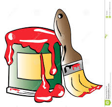 paint can and brush clipart 2095748