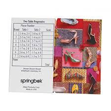 two table progressive tally amazon com springbok puzzles shoes shoes shoes bridge tally