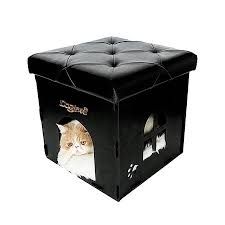 Soft Ottoman Cube Soft Ottoman Design Cat Cube House Multi Function Pet Cat Bed