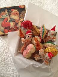 vintage christmas decorations 1940s xmas by pinkneonvintage