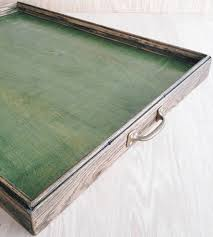 canfield colored reclaimed wood ottoman tray home decor