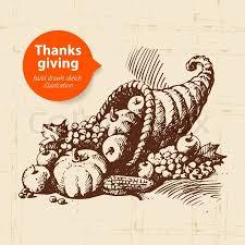 vintage thanksgiving day illustration stock vector