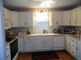kitchen best antique white painted kitchen cabinet with wall