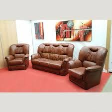 salon canapé fauteuil salon canapé 3 places et 2 fauteuils cuir châtaigne salon146