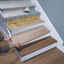 Best Flooring For Stairs Best 25 Wood Stair Treads Ideas On Pinterest Stairs New Design