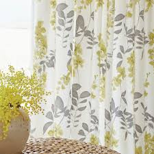 yellow patterned window curtains home decoration ideas