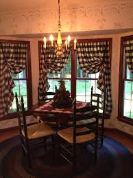 Primitive Curtians by Kitchen Nook I Especially Love The Rug And The Way The Curtains