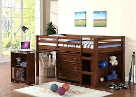 Bunk Bed With Desk And Dresser Loft Bed With Desk And Dresser Low Loft With Roll Out Desk