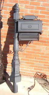ornamental cast aluminum mailbox posts