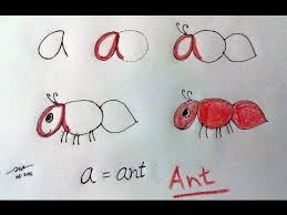 learn the alphabet and how to draw animals with letters finger