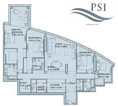 floor plans of sky tower units al reem island 4 1 bedroom type a2587