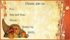 thanksgiving invitations general resumes