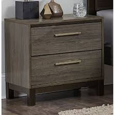 Black Nightstand With Drawers Gray U0026 Black Contemporary Nightstand Oxon Rc Willey Furniture