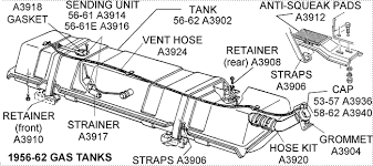 corvette supply 56 62 gas tank diagram view chicago corvette supply