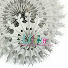 Christmas Crepe Paper Decorations by Decorate Your Own Paper Fans Xmas Snowflake Decor Fan Ceiling
