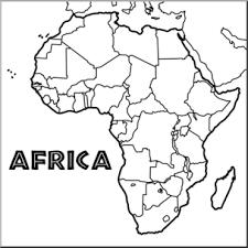 africa map black and white clip africa map b w blank i abcteach abcteach
