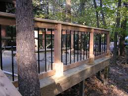 a deck in the woods fros carpentry