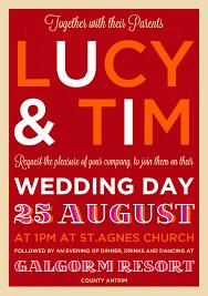 wedding invitations belfast festival poster style wedding invitation wedfest
