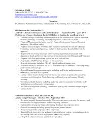 Resume Accounting Examples by Undergraduate Accounting Resume Free Resume Example And Writing