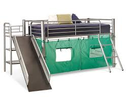Bunk Bed With Slide Dorel Home Junior Loft With Slide Silver Walmart Metal