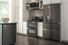 best kitchen appliance packages lg s new black stainless steel appliances are almost too cool for